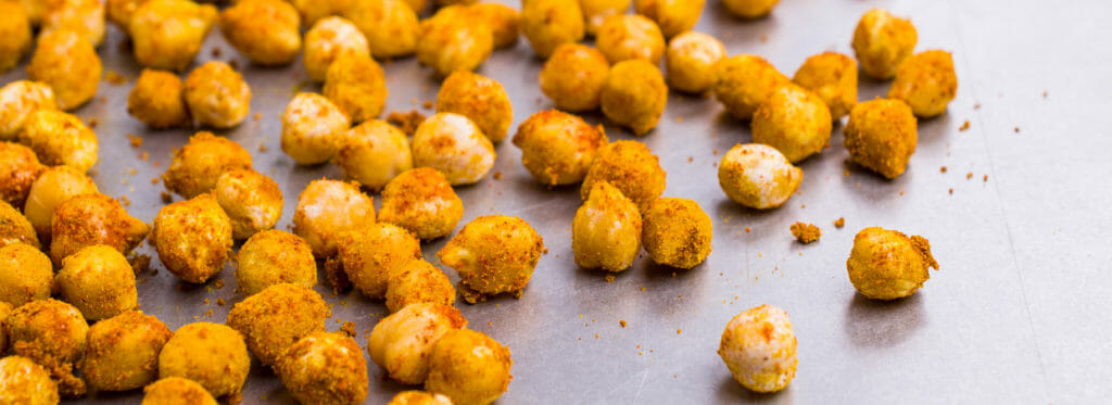 Alternative healthier chickpea snacks
