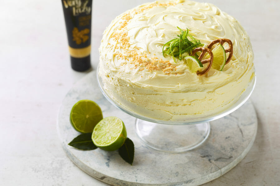 Ginger, Choc & Lime cake 1