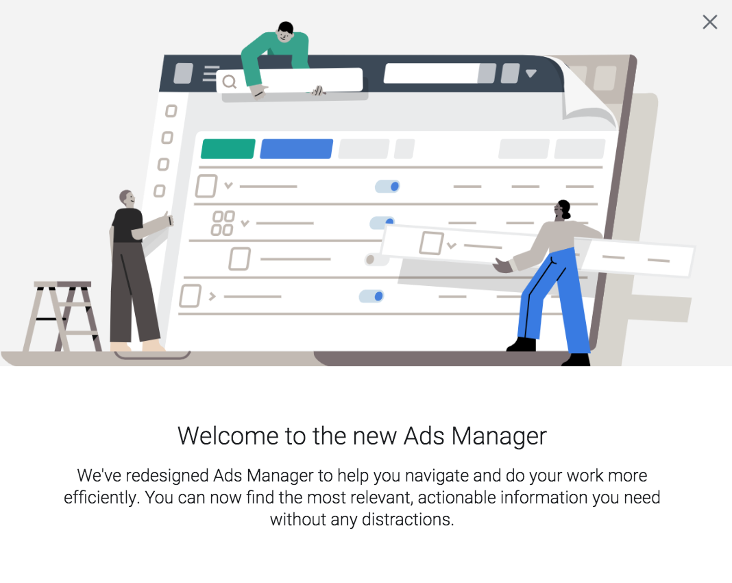 New Facebook Ads Manager UI has arrived