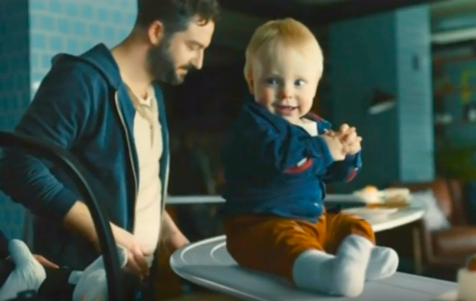 Dad forgets child in banned Philadelphia ad